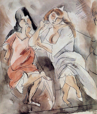 Jules Pascin Two Creoles - Hand Painted Oil Painting