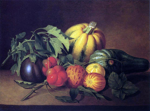 James Peale Vegetable Still Life - Hand Painted Oil Painting