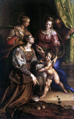 Antonio Campi Virgin and Child with Saints - Hand Painted Oil Painting