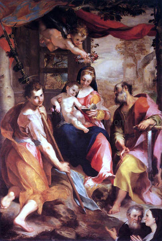 Federico Fiori Barocci Virgin and Child with Sts Simon and Jude (Madonna di San Simone) - Hand Painted Oil Painting