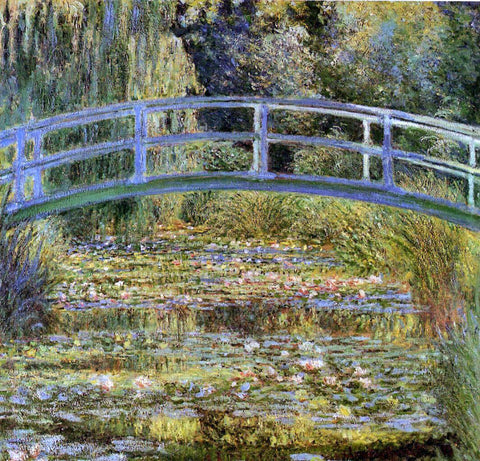 Claude Oscar Monet A Water-Lily Pond - Hand Painted Oil Painting