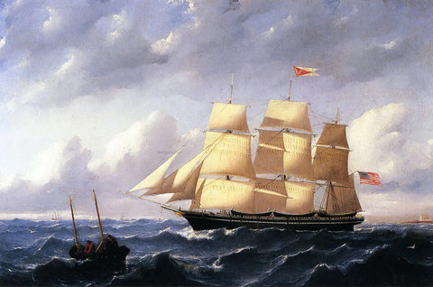 William Bradford Whaleship 'Twilight' of New Bedford - Hand Painted Oil Painting