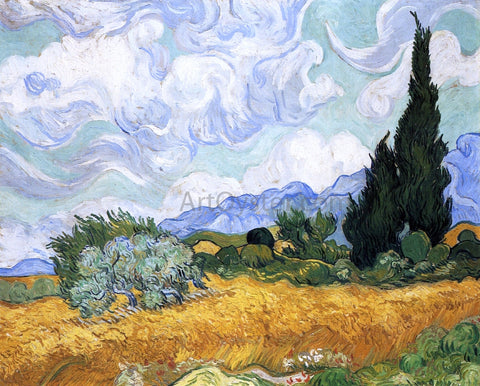 Vincent Van Gogh Wheatfield with Cypress - Hand Painted Oil Painting