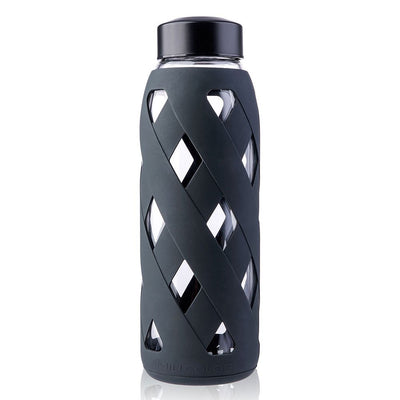 Glass Water Bottle with Silicone Sleeve (27oz)