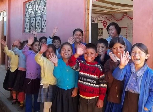 Kids at school in Cajamarca
