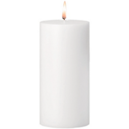 White Pillar Candle - Tree Gifts NZ