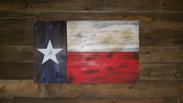 Texas Concealed Weapon Flag Original Size