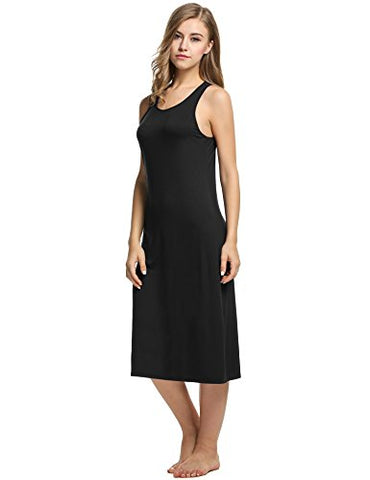 Avidlove Womens Cotton Gown Sleeveless Nightshirt Racerback Bodycon Dress