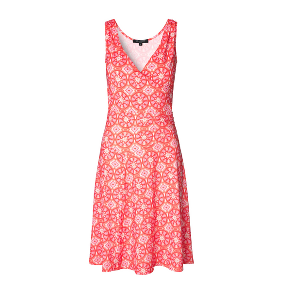 ILSE JACOBSEN SLEEVELESS DRESS PINK RED