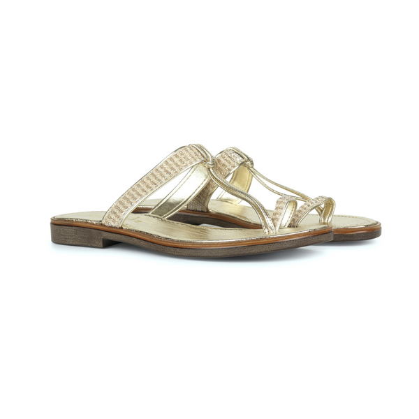ILSE JACOBSEN GOLD SANDAL POPPY
