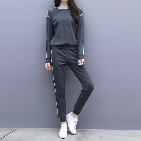 Casual Loose Slim Hoodies With Jogger Pants Sportswear Suit