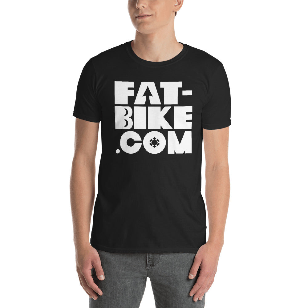Fat-bike.com Logo T-shirt White Lettering on Black