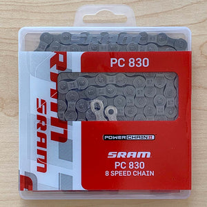 SRAM PC-830 6,7,8 speed Bicycle Chain 114 Links with Powerlink
