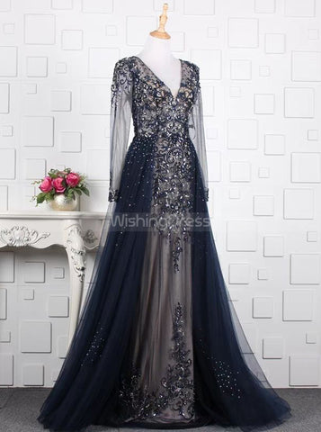 products/beaded-prom-dress-with-illusion-sleeves-fitted-prom-dress-with-overskirt-pd00380-2.jpg