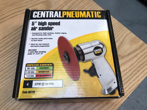 "Central Pneumatic 5"" high speed air sander"