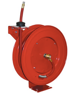 "Heavy Duty Retractable Air Hose Reel Part #: ATD-31166  3/8"" x 50' hOSE  25 CFM  1/4"" NPT male and female"