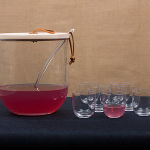Ivalo Punch Bowl with 8 glasses