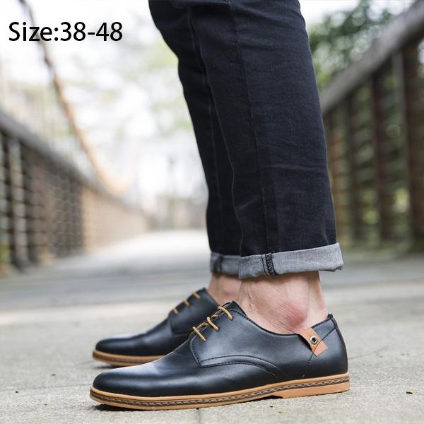 Big Size Men's Chain Casual Leather Business Shoes