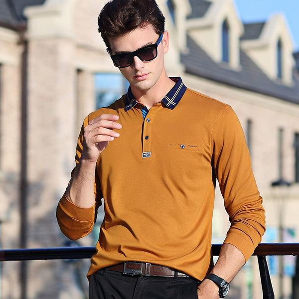 Doriry Style Long Sleeves Collar Polo