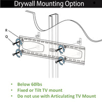 "200lbs Drywall Anchors for No Stud, Metal/Steel Stud, Drywall, Gypsum, Heavy Duty Drywall Anchors Used for TV mounting, grab bar mounting, furniture, cabinet mounting, shelve mounting, baby gates, Includes 1/2"" Drill Bit"