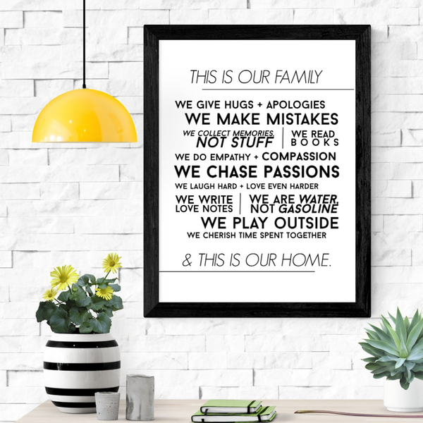 Blended Family Manifesto Wall Art Print