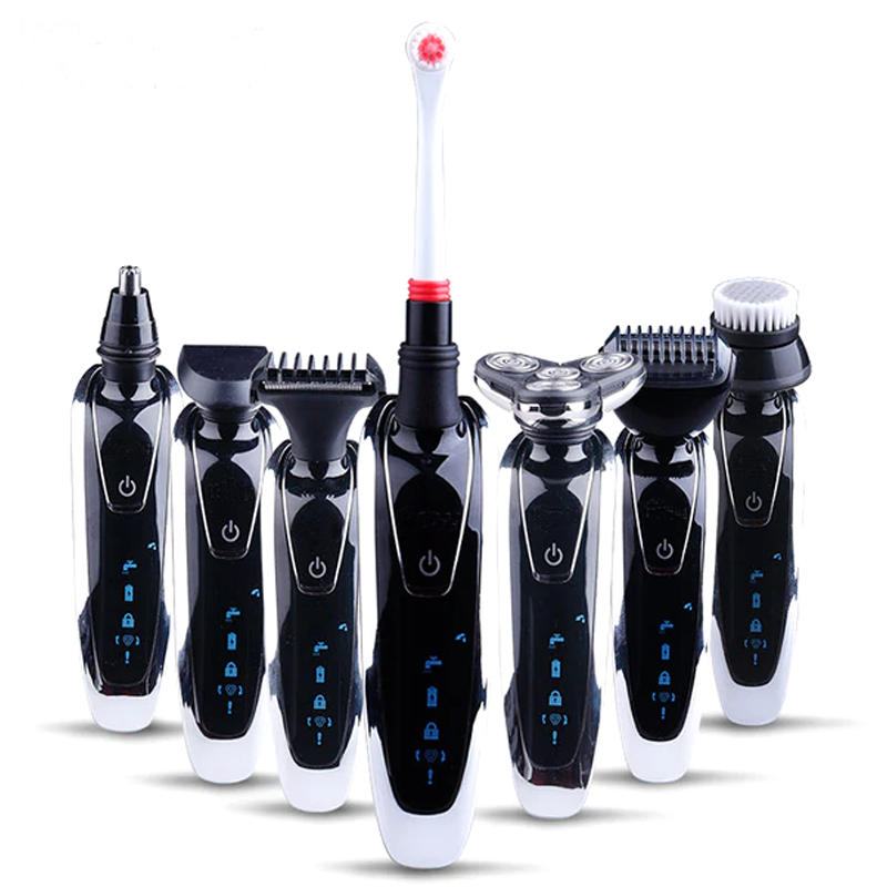 7 in 1 Men's 3D Electric Razor, Trimmer & Brush Travel Kit