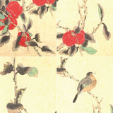 GA023 100% HAND PAINTED FLOWER BIRD CHINESE INK SCROLL PAINTING
