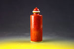 SC067 D18mm HAND MADE CHINESE RED GLAZE CHINESE PATERN PORCELAIN SNUFF BOTTLE