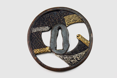 TC118 WEAVING CLOTH TSUBA