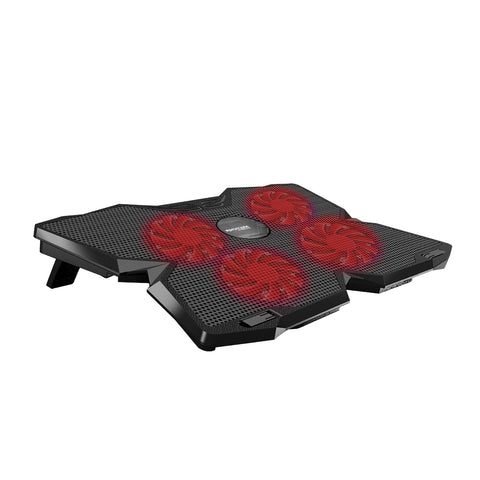 Ergonomic Laptop Cooling Pad with Silent Fan Technology