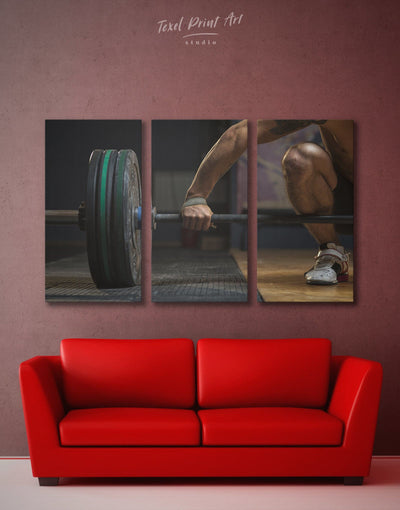 3 Pieces Sports Wall Art Canvas Print - 3 Panels Home Gym inspirational wall art manly wall art Motivational