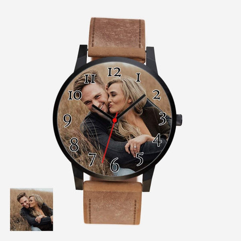 watch Silver / Braun / Yes Happy Couple Watch Beeoux