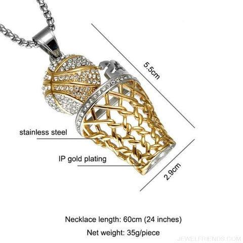 Bling Iced Out Basketball Pendants Necklaces - No.23 Tone - Custom Made | Free Shipping