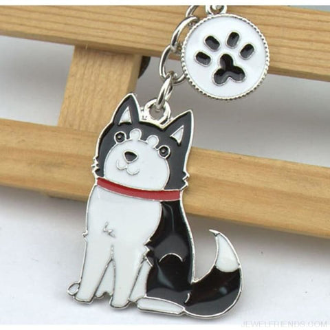 Cartoonish Dog Breed Keychains - 07 - Custom Made | Free Shipping