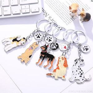 Cartoonish Dog Breed KeyChains
