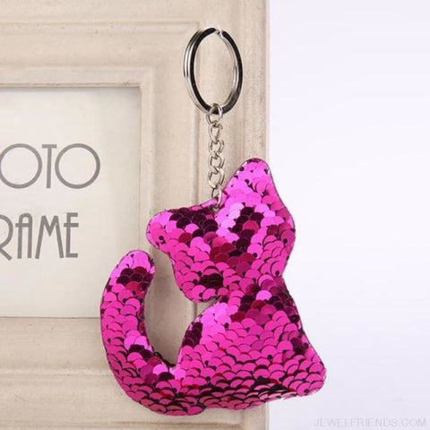 Glitter Bear Pompom Sequins Keyring - Yl005 - Custom Made | Free Shipping