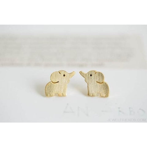 Minimalist Elephant Stud Earrings - Custom Made | Free Shipping
