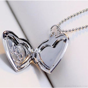 Paw Footprint Photo Frame Memory Locket Necklace