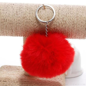 Pompom Imitation Fur Ball - Red - Custom Made | Free Shipping