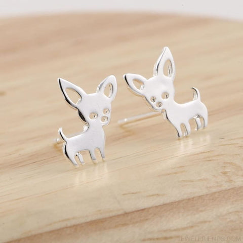 Simple Cute Chihuahua Earrings - Custom Made | Free Shipping