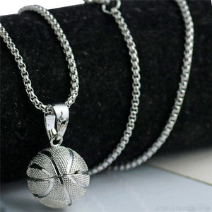 Sport Basketball Pendant Necklace