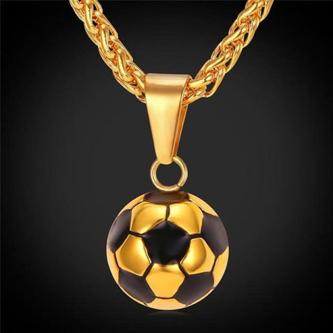 Sporty Football Chain Necklace - Gold-Color - Custom Made | Free Shipping