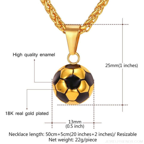 Sporty Football Chain Necklace - Custom Made | Free Shipping