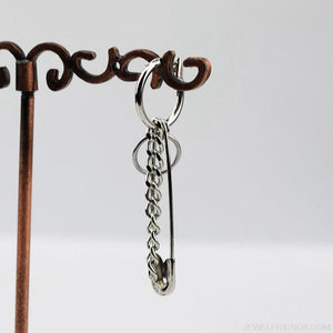 Stainless Steel Safety Pin Geometry Chain