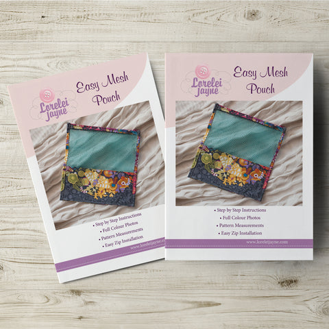 Easy Mesh Pouch Paper Sewing Pattern  Paper Pattern free sewing patterns - Lorelei Jayne