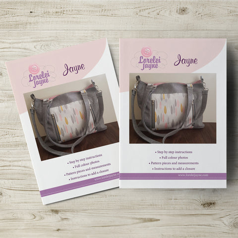 Jayne Bag Paper Sewing Pattern  Paper Pattern free sewing patterns - Lorelei Jayne