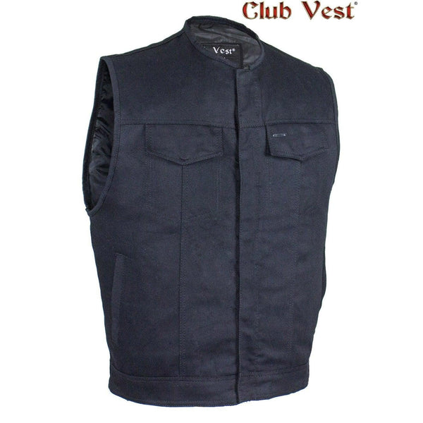 Men's Black Denim CCW Pocket Vest by Club Vest®