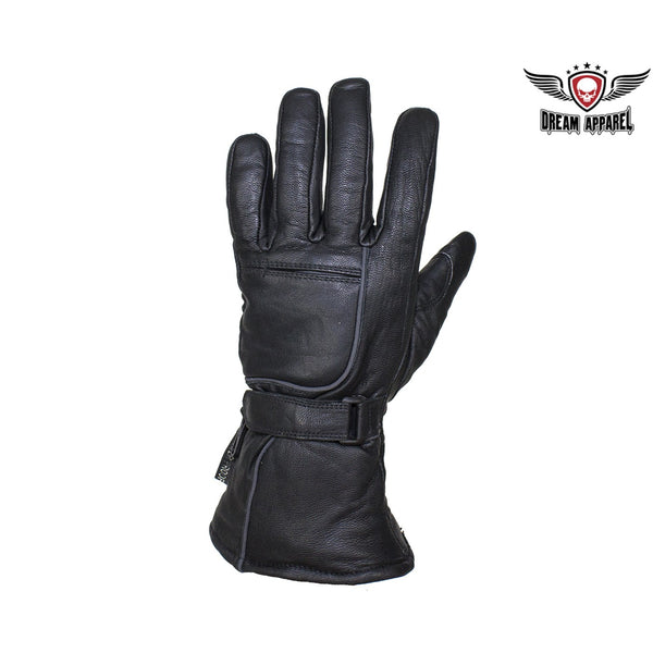 Waterproof Reflective Nappa Leather Gauntlet Riding Gloves