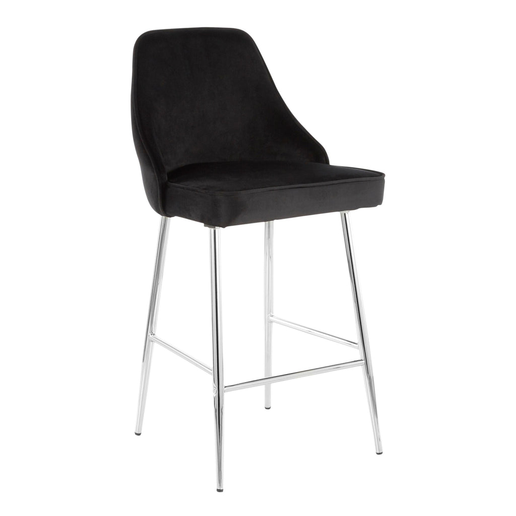 Marcellus Counter Stool with Chrome Legs in 6 Color Options