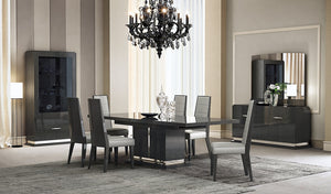 Valentino Grey Lacquered Dining Room Collection